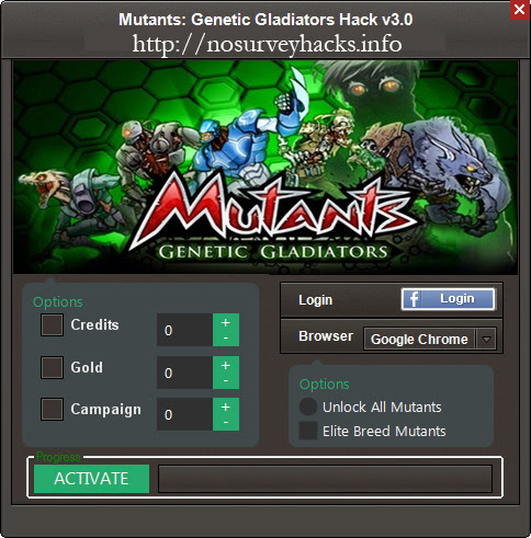 Mutants Genetic Gladiators Hack No Survey