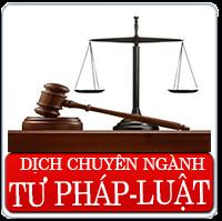Dịch thuật chuyên ngành luật, hợp đồng kinh tế, các văn bản quy phạm trong và ngoài nước, tranh chấp thương mại v.v