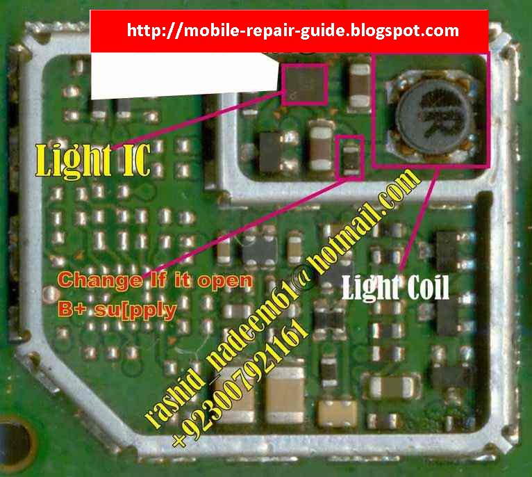 Nokia 5030 Light Solution: Nokia 1661-1202 LCD Backlight Problems Picture Help