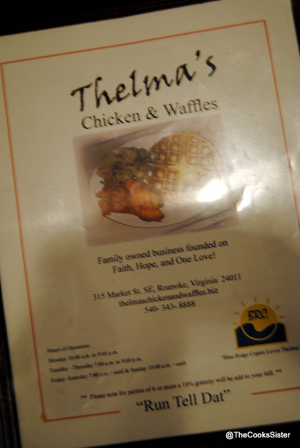 Menu - Thelma's Chicken and waffles
