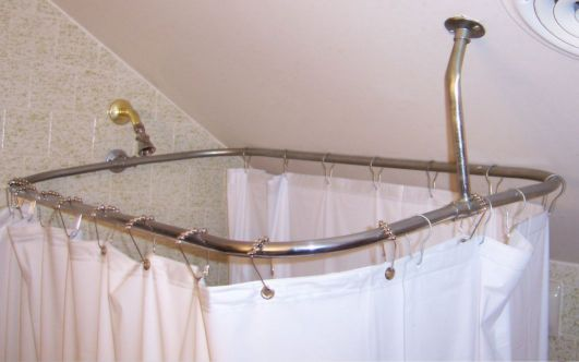 shower support on sloping drywall ceiling - DoItYourself.com ...