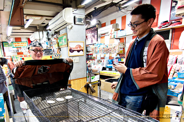Friendly People at Asakusa's Nakamise Shopping Street