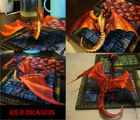 Red Dragon Papercraft
