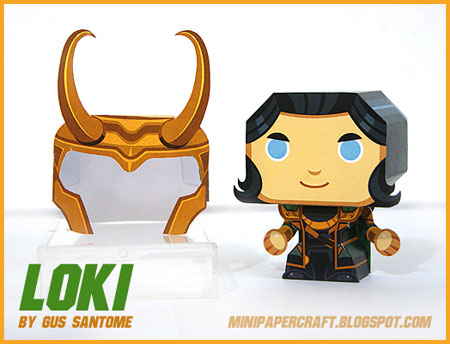 Mini Loki Paper Toy