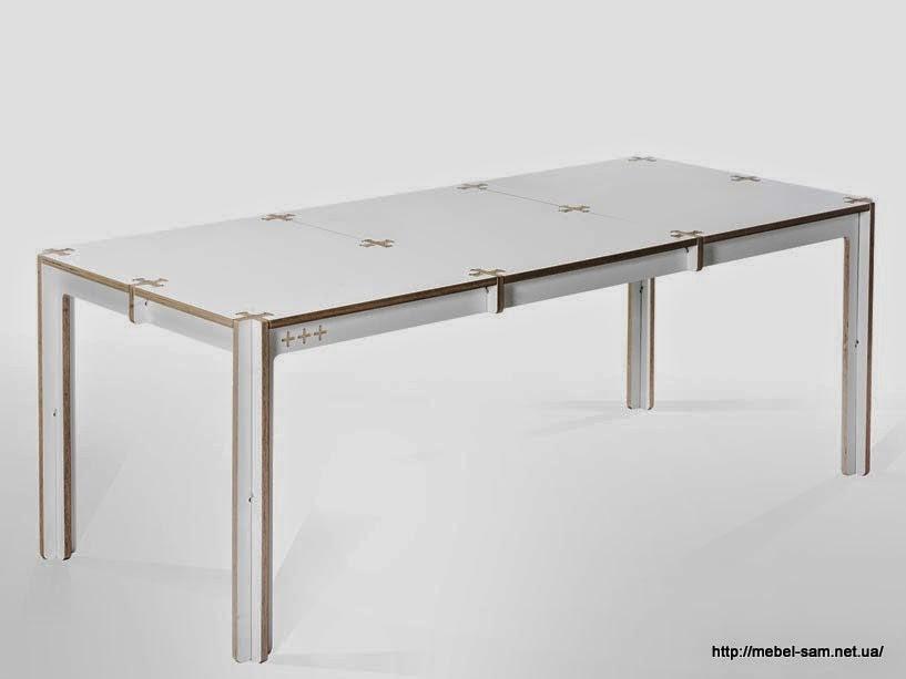 Серия фанерных столов от студии fraaiheid
