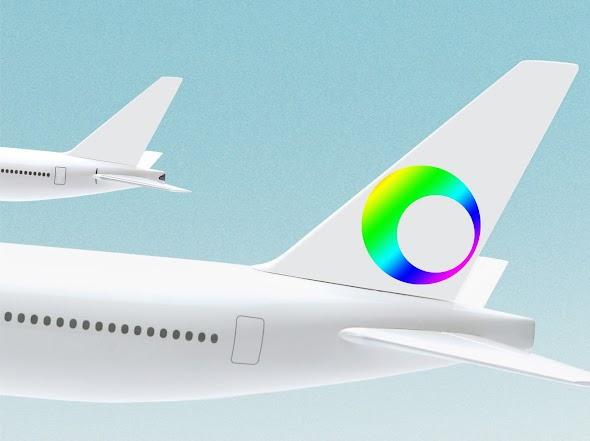 airplane tail mockup