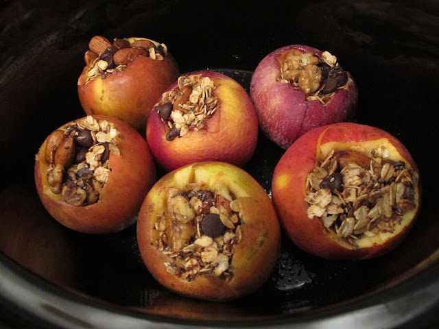 stuffed apples in slow cooker