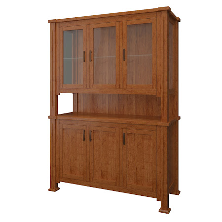 Sacramento China Cabinet in Itasca Maple