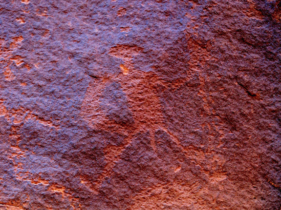 Petroglyphs in Sevenmile Canyon
