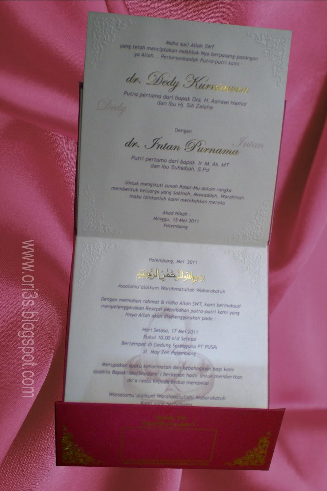 Undangan Pernikahan warnah Merah Model terbaru 2015 di koleksi ...
