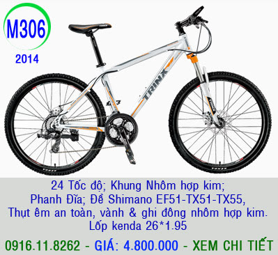 XE ĐẠP THỂ THAO, xe dap the thao, xe dap trinx, xe đạp thể thao chính hãng, xe dap asama,  M306 2014