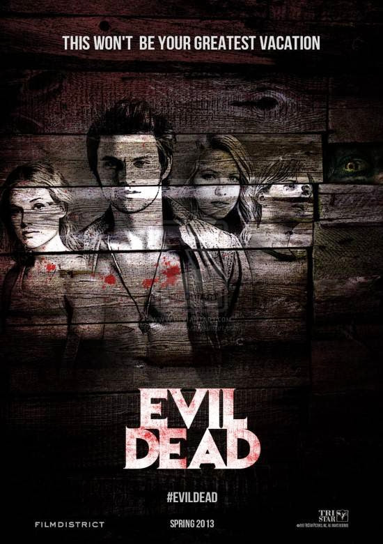 Poster Of English Movie Evil Dead (2013) Free Download Full New Hollywood Movie Watch Online At Alldownloads4u.Com