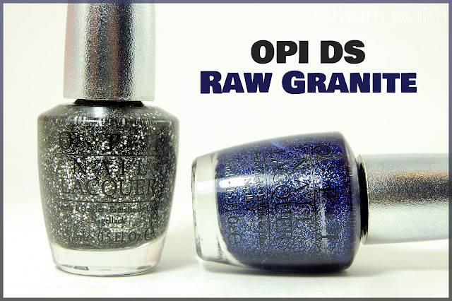 OPI DS Raw Granite: DS Pewter and DS Lapis - Swatches & Reviews
