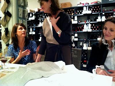 Gayle Warwick showing her luxury linens