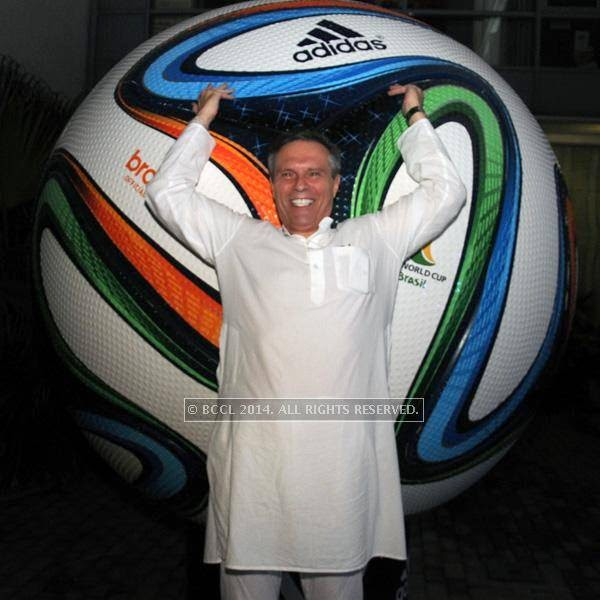 Michael Steiner during the 2014 FIFA World Cup final screening, held at Germany embassy, in New Delhi, on July 13, 2014.