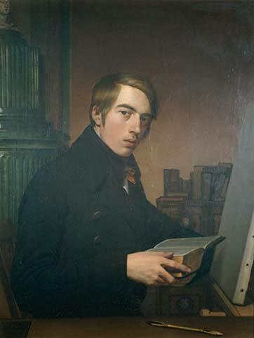 Johann Friedrich Overbeck - Selbstbildnis mit der Bibel