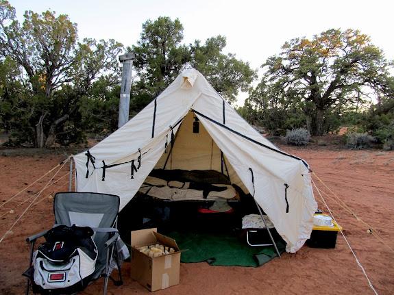 Wade's camp setup