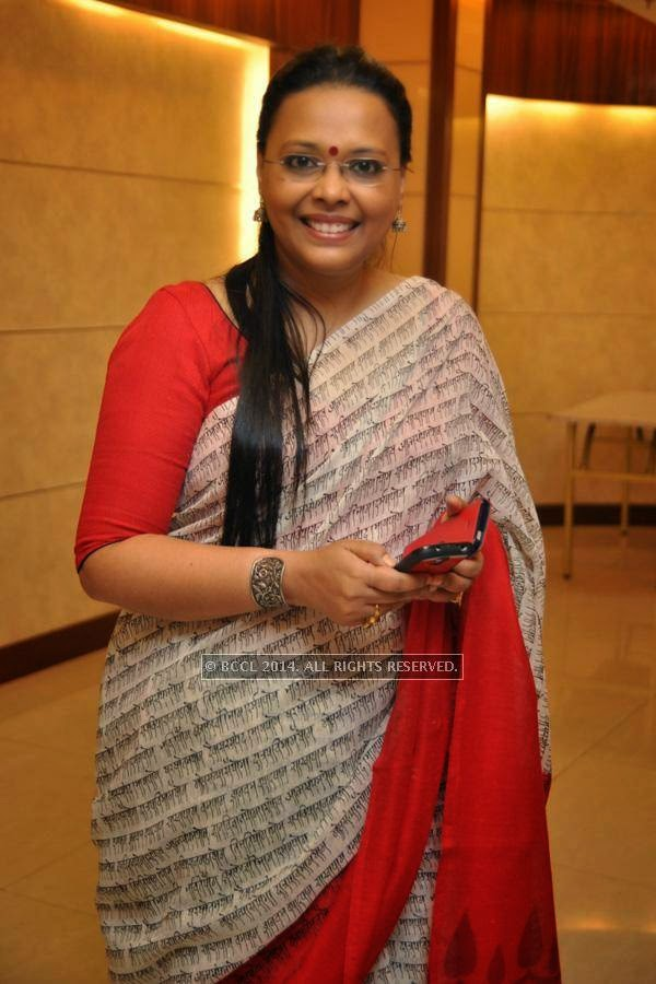 Lopamudra during the launch of Kolkata Diaries, held at Imperio.<br />