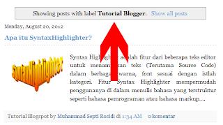 Tampilkan posting dengan label,Show all posts,Showing Posts With Label,tampilkan semua posting,status message bar,status message,blogger status message
