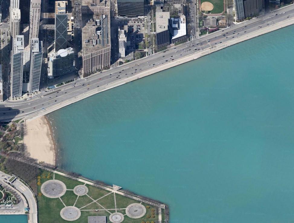 Chicago depuis Olive Park Chicago