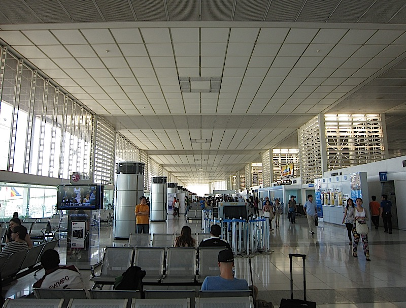 inside the Centennial Terminal of the Ninoy Aquino International Airport