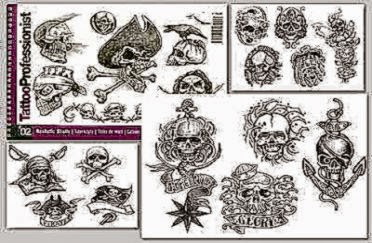 Tattoo Professional Series  2 Tattoo Book on SKULLS Illustration