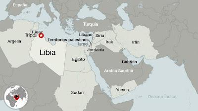 la proxima guerra libia mapa revolucion tunez egipto