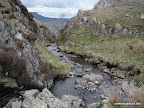 Looking down stream below and to the east of Dalehead Tarn