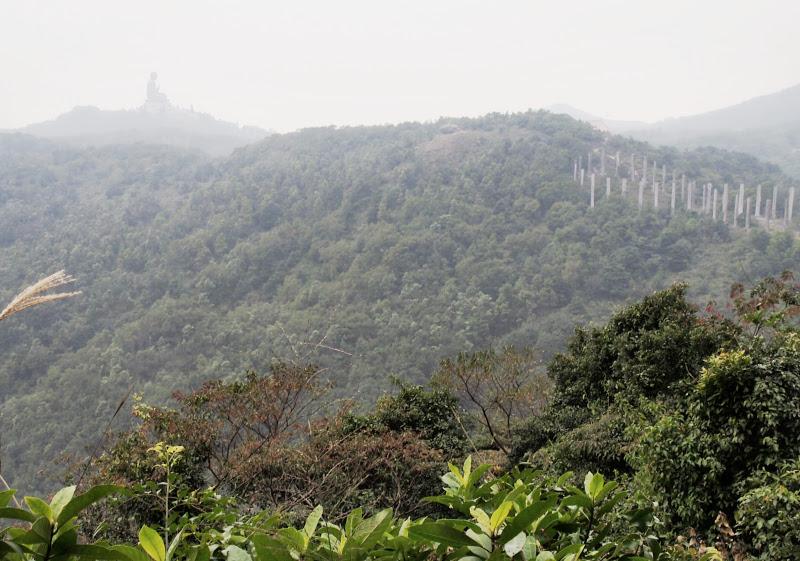 Big Buddha seen from Lantau Peak trail