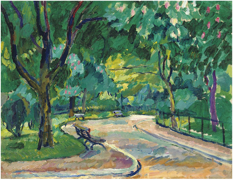 Pyotr Konchalovsky - France. Parc Montsouris. Chestnut tree . 1908