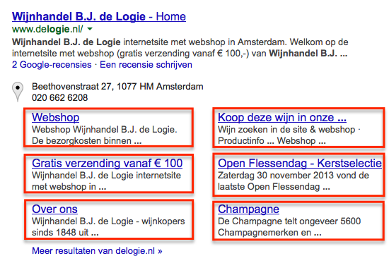 WIjnhandel B.J. de Logie in Amsterdam (branded search)