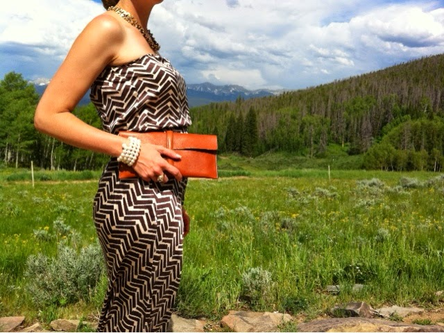 baby bump- j.crew dress_mignon faget_ canal street clutch_ colorado_ strapless dress
