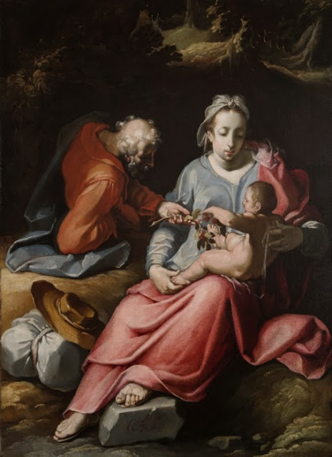 Cornelis Cornelisz van Haarlem - The Holy Family (1590)