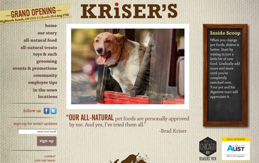 krisers home page