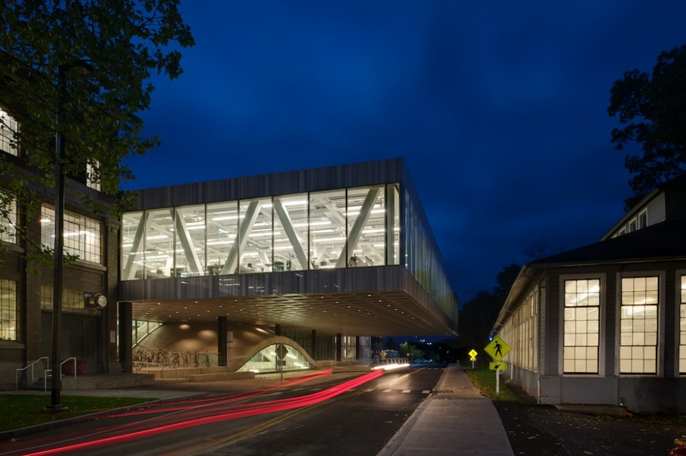 Milstein Hall at Cornell University design by OMA