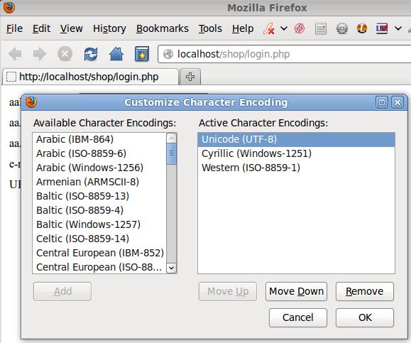 настройки на Firefox