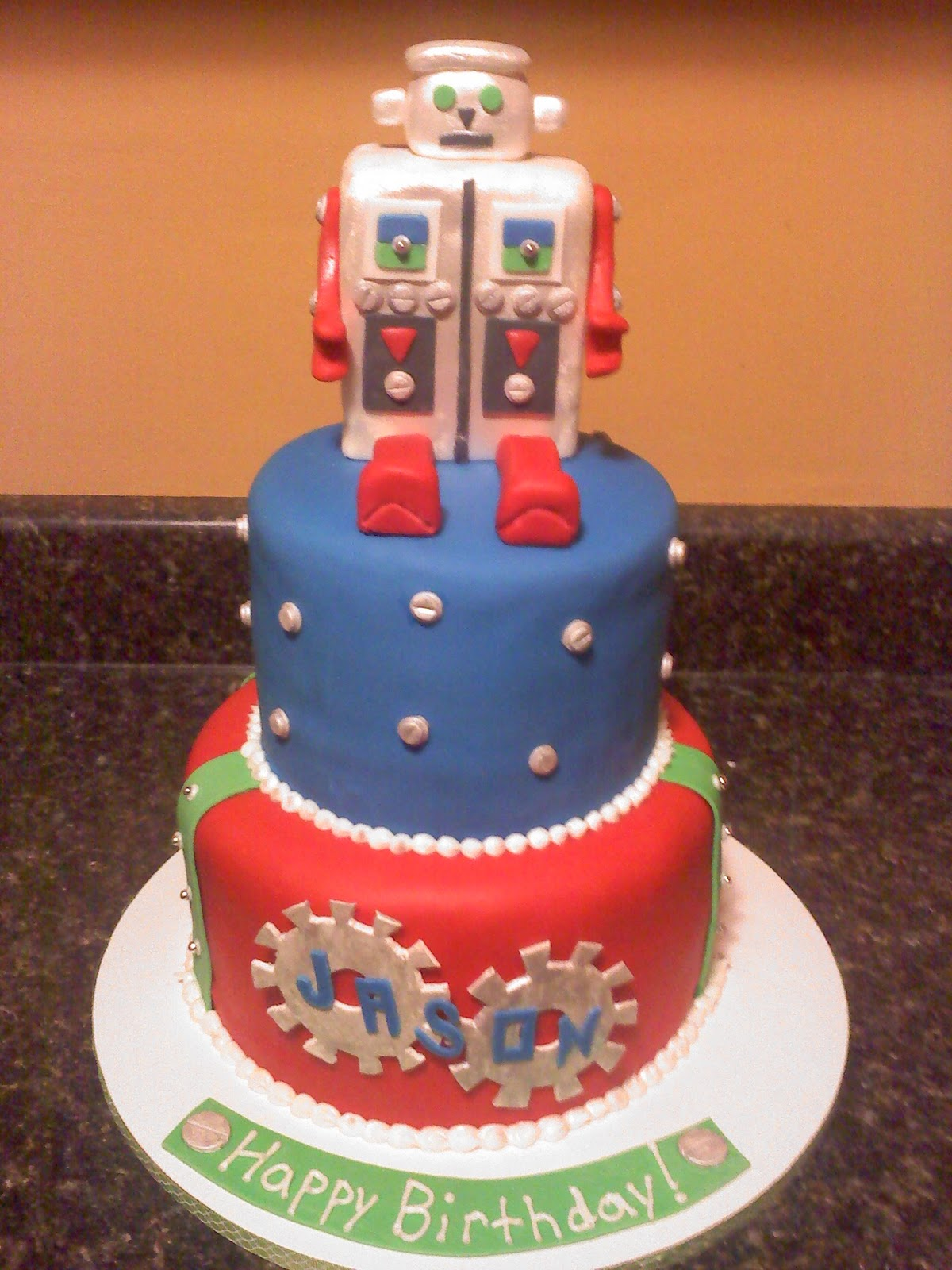 Lick Your Lips Cakes: Robot Cake
