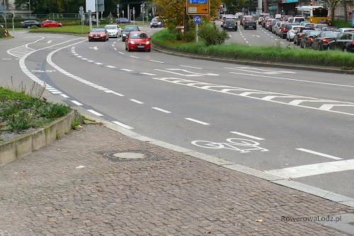 Pasy ruchu dla rowerów w Stuttgarcie