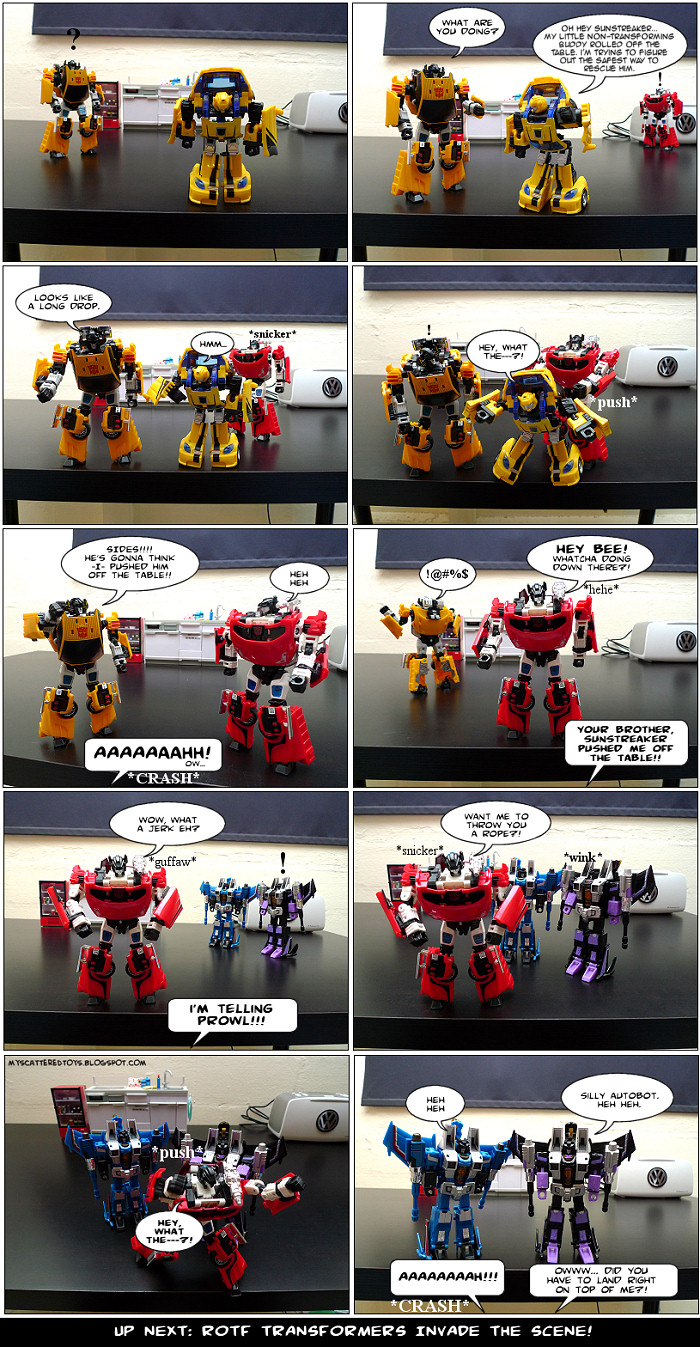 pranked - my toys are alive 07 transformers fan comics lambo twins seekers