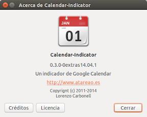 Tu calendario en Ubuntu Trusty Tahr con Calendar-Indicator