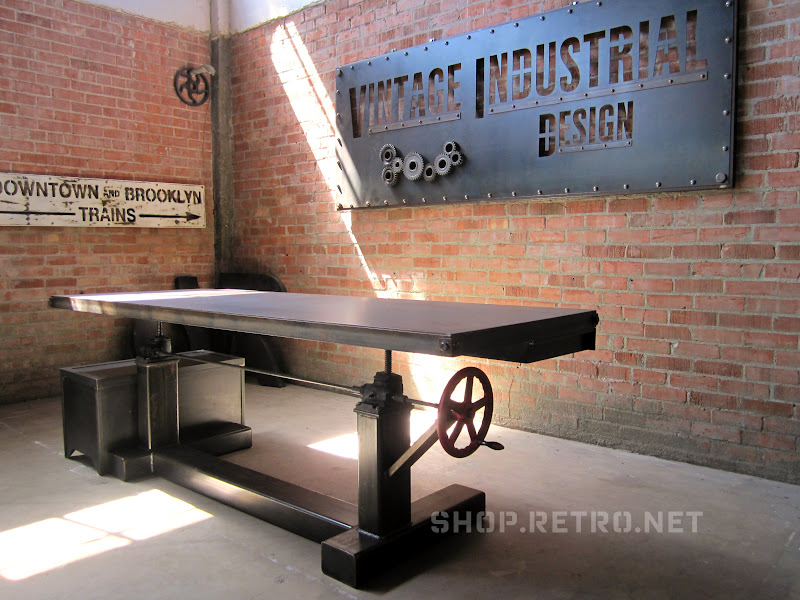 New Adjustable Height Crank Table Design – Vintage ...