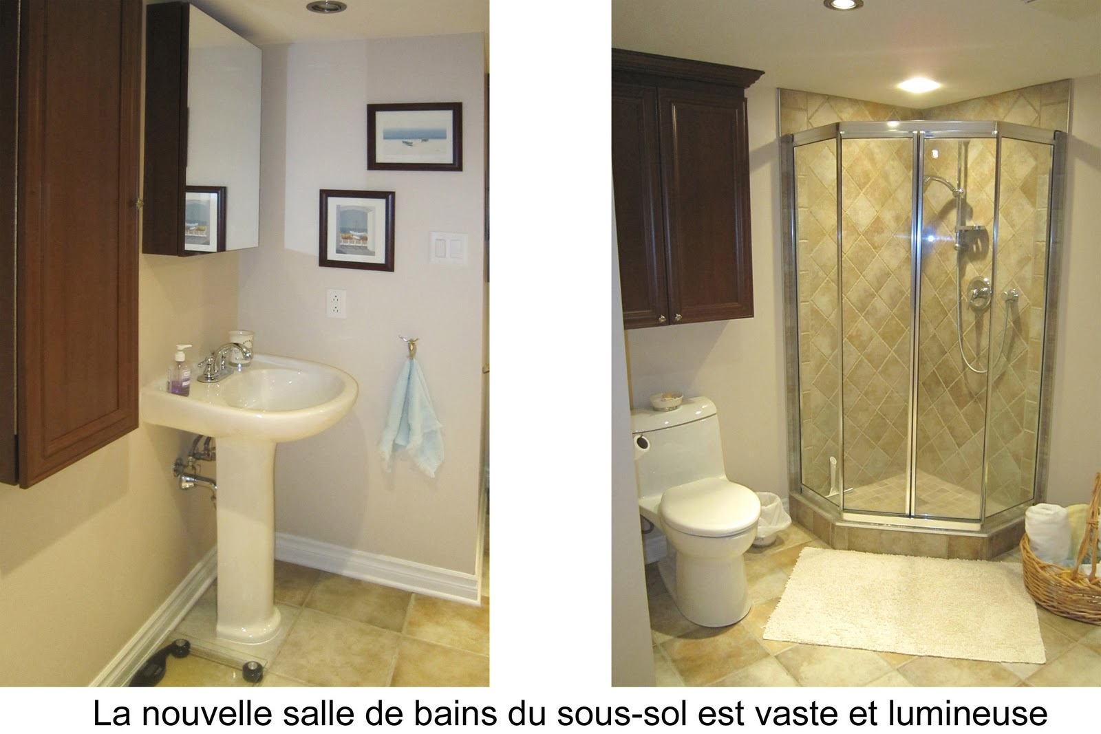 Idee salle de bain sous sol pr l vement d for Salle de bain plan de campagne