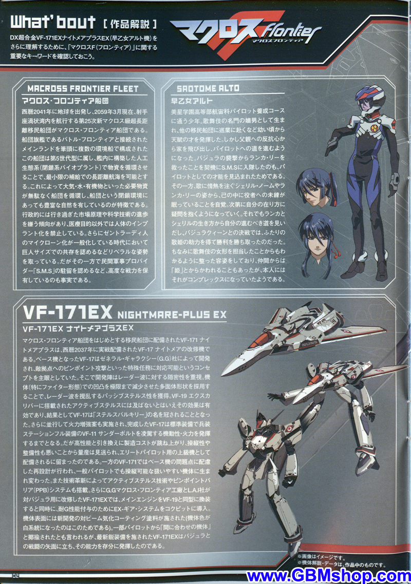Bandai DX VF-171EX Nightmare Plus Transformation Manual Guide