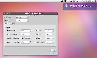 Configurable NotifyOSD notifications Ubuntu