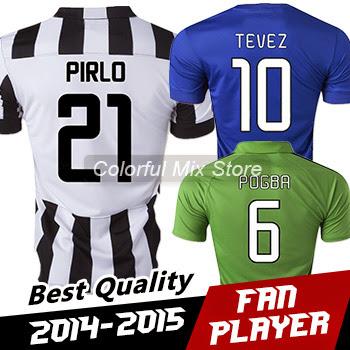 Soccer Jerseys Free Shipping 2015 Juve POGBA PIRLO Best