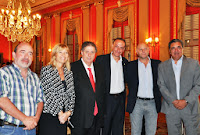 El intendente municipal, Gustavo Arrieta, participó de la ceremonia  encabezada por el gobernador Daniel Scioli en La Plata, donde se celebró la firma de convenios entre los ministerios
