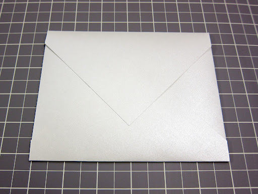 Then I secured the top flap down to the rest of the envelope.