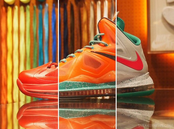A Couple of Nike LeBron X iD Samples with Flat Swoosh
