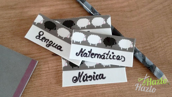Etiquetas para el cole hechas a mano