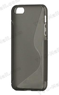 iPhone5用ケース。ブラック、ホワイト、グレー、レッド、ピンク、ブルー、パープルのカラーバリエーションがある